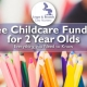Free childcare funding for 2 year olds