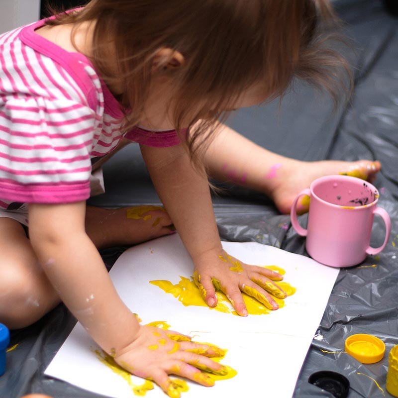Messy play also helps children with communication, independent working and team-working