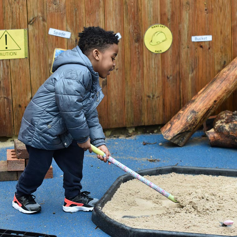 Messy play helps children develop motor skills, body strength & coordination