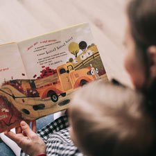 Reading with a young child
