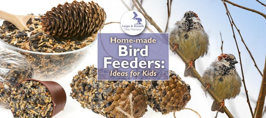 Home-made Bird Feeders – Ideas for Kids