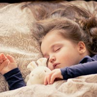 A comforting cuddly toy may help some under-fives sleep