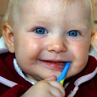 Just a smear of the toothpaste is needed for babies & children up to the age of 3