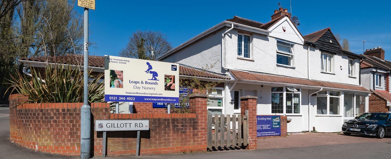 Leaps & Bounds Day Nursery is at 161 Gillott Road, Edgbaston, Birmingham B16 0ET, near Harborne, Ladywood, Bearwood and Smethwick.