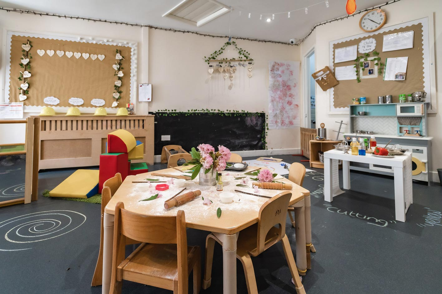 Some of the creative equipment that children can enjoy indoors.