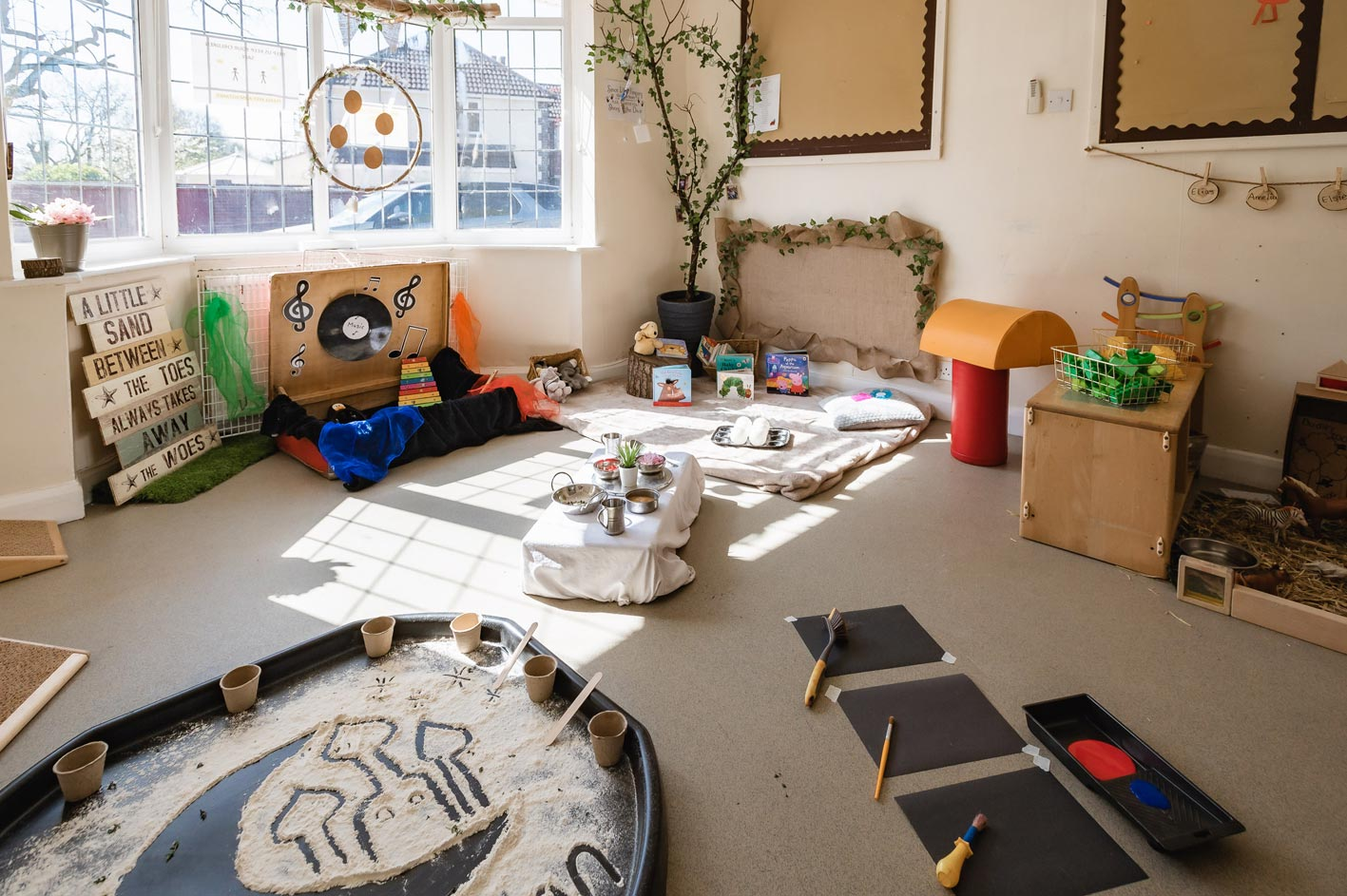 More creative play opportunities at Leaps & Bounds Day Nursery.