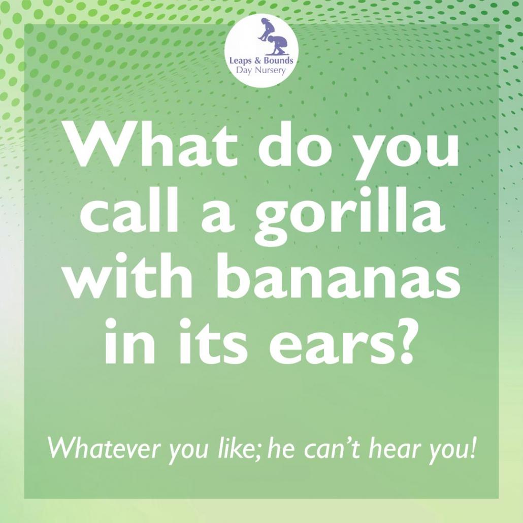 Gorilla joke for preschool children