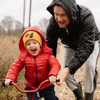 Laughter releases endorphins that make children feel good.
