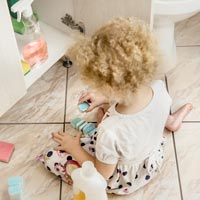 Household products including cleaning products can be a real hazard.