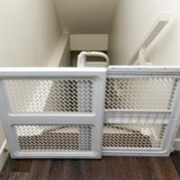 Installing stair gates is a no-brainer for families with young children. Ideally find a type they can't climb on.